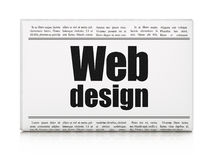 Conceito de design web: design web do título de jornal Fotos de Stock