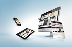 Conceito de design web Imagem de Stock Royalty Free