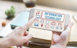 Conceito de Digitas do dispositivo da eletrônica da tecnologia da informação fotografia de stock