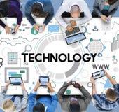 Conceito de Digitas dos trabalhos em rede da conexão da tecnologia foto de stock royalty free