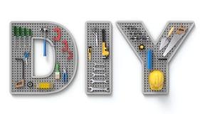Conceito de DIY com pegboard Fotos de Stock