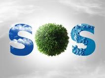 Conceito de Eco SOS Fotografia de Stock