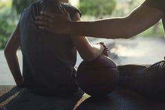 Conceito de Exercise Sport Stadium do atleta do jogador de basquetebol Imagem de Stock Royalty Free