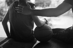 Conceito de Exercise Sport Stadium do atleta do jogador de basquetebol Imagem de Stock