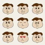 Conceito de expressões diferentes Imagens de Stock Royalty Free