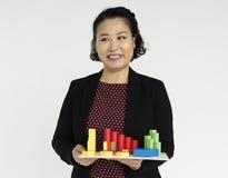 Conceito de Expression Studio Style da mulher de negócios Fotografia de Stock