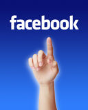 Conceito de Facebook fotos de stock