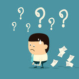 Conceito de Failure do homem de negócios dos desenhos animados Fotografia de Stock Royalty Free