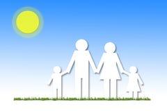 Conceito de família da ilustração Foto de Stock