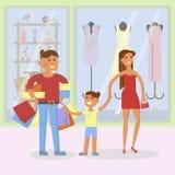 Conceito de família feliz ilustração stock
