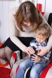 Conceito de família Natal e ano novo Fotos de Stock Royalty Free