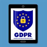 Conceito de GDPR Regulamento geral da proteção de dados Lei nova da UE desde 2018 ilustração do vetor