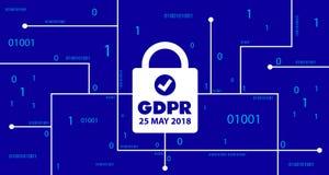 Conceito de GDPR Regulamento geral da proteção de dados Lei nova da UE desde 2018 ilustração royalty free