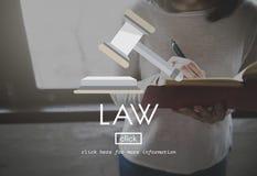 Conceito de Governance Legal Judge do advogado da lei fotografia de stock royalty free