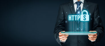 Conceito de HTTPS imagem de stock