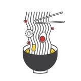 Conceito de Ilustratiion do ícone do macarronete de Ramen ilustração stock