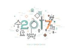Conceito de Infographic 2017 anos de oportunidades Imagem de Stock