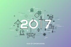 Conceito de Infographic 2017 anos de oportunidades Fotos de Stock Royalty Free