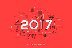 Conceito de Infographic 2017 anos de oportunidades Fotografia de Stock