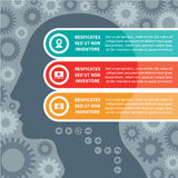 Conceito de Infographic com uma cabeça humana Imagens de Stock Royalty Free