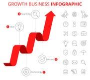 Conceito de Infographic do negócio do crescimento Fotografia de Stock