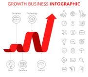 Conceito de Infographic do negócio do crescimento Fotografia de Stock Royalty Free