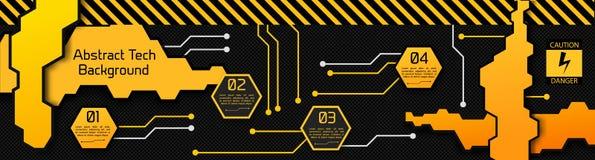 Conceito de Infographic do sumário de High Tech ilustração royalty free