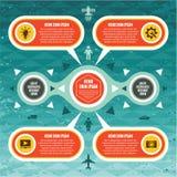 Conceito de Infographics - esquema do vetor Fotografia de Stock