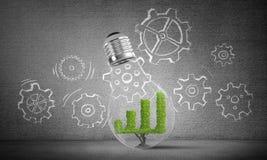 Conceito de inovações eficazes do mercado Foto de Stock Royalty Free