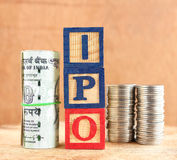 Conceito de IPO Foto de Stock Royalty Free