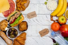 conceito de jejum da dieta do 5:2 fotografia de stock royalty free