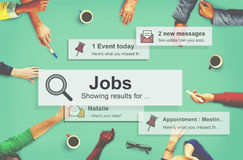 Conceito de Job Employment Hiring Career Occupation Foto de Stock Royalty Free