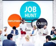 Conceito de Job Hunt Employment Career Recruitment Hiring foto de stock royalty free