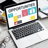 Conceito de Job Opportunities Motivation Employment Competence Imagem de Stock