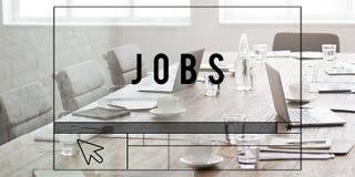 Conceito de Job Search Application Career Work Imagens de Stock Royalty Free