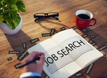 Conceito de Job Search Career Jobless Occupation Fotos de Stock Royalty Free