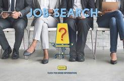 Conceito de Job Search Career Plan Occupation Fotografia de Stock