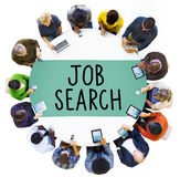 Conceito de Job Search Searching Career Application Foto de Stock