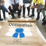 Conceito de Job Work Career Profession Occupational da ocupação Imagem de Stock Royalty Free