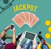 Conceito de jogo da aposta do risco do jackpot da sorte Foto de Stock Royalty Free