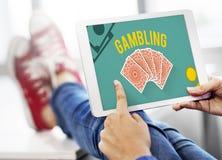 Conceito de jogo da aposta do risco do jackpot da sorte Imagem de Stock Royalty Free