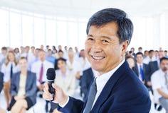 Conceito de Leadership Presentation Cooperation do homem de negócios fotos de stock