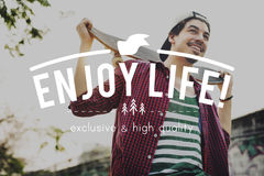 Conceito de Live Life Lifestyle Enjoyment Happiness Imagem de Stock