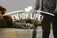 Conceito de Live Life Lifestyle Enjoyment Happiness fotos de stock