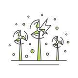 Conceito de Logo Set Badge Recycling Ecological da ilustração do estilo ilustração royalty free