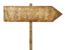 Conceito de madeira da placa da informação do sentido do sinal da seta Fotografia de Stock Royalty Free