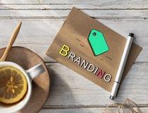 Conceito de marcagem com ferro quente da identidade da marca registrada de Copyright da etiqueta Fotos de Stock Royalty Free
