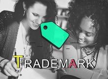 Conceito de marcagem com ferro quente de Identitiy da marca registrada de Copyright da etiqueta Imagem de Stock