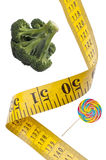 Conceito de medição da saúde da dieta da fita Imagem de Stock