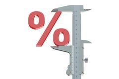 Conceito de medição do disconto Foto de Stock